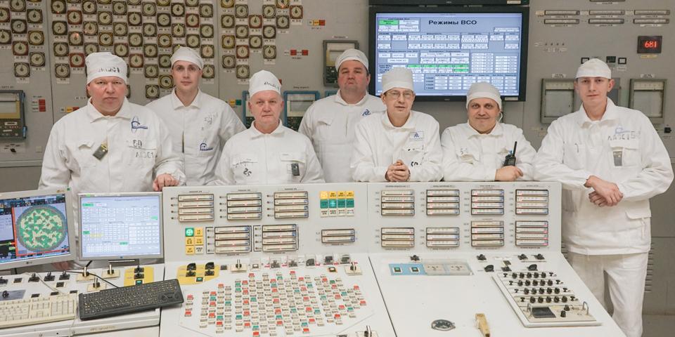 Смена на одном из четырех пультов управления блоком, работавшая в день выдачи триллиона