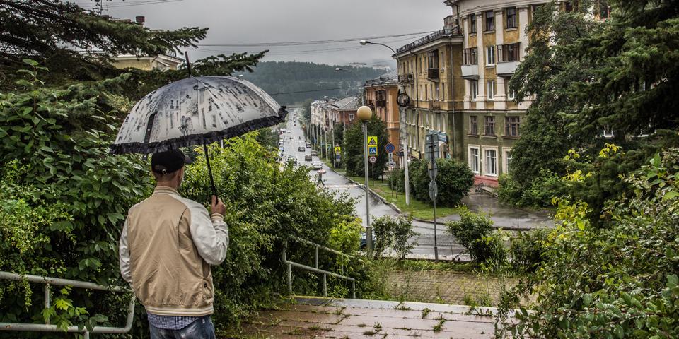 Вид на старый город: пересечение улиц Свердлова и Ленина