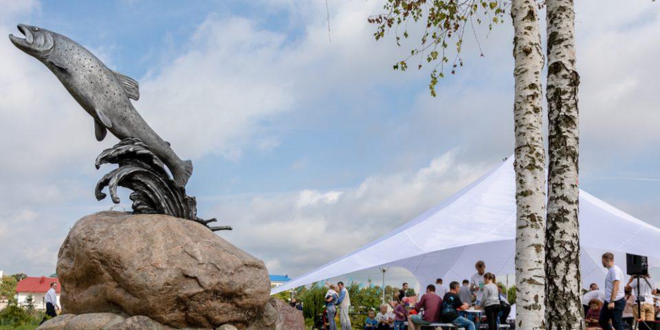 Когда-то в местных реках водились осетровые, но сейчас о них напоминает только герб Островца и памятник, который открыли в День города