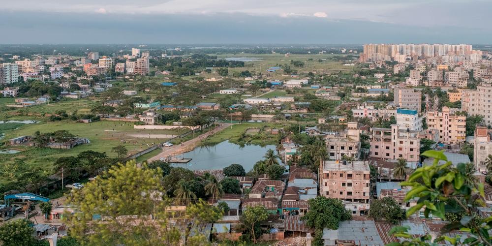 Жилой район на окраине столицы