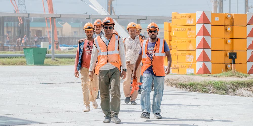 На площадке строящейся АЭС «Руппур»