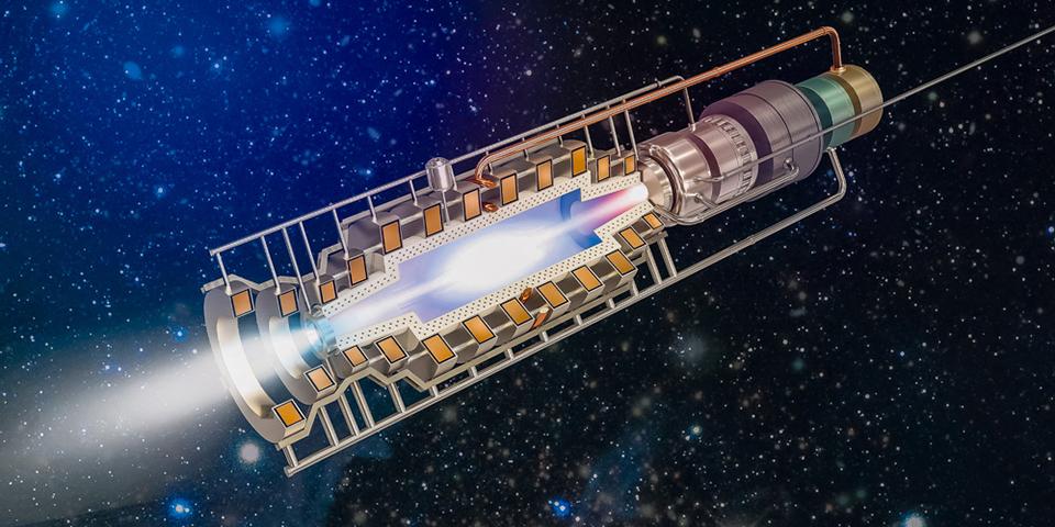 Вариант конструкции ядерного ракетного двигателя